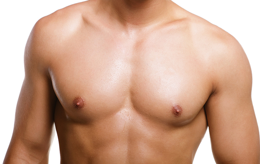Male Torso With Well Defined Breast Muscles