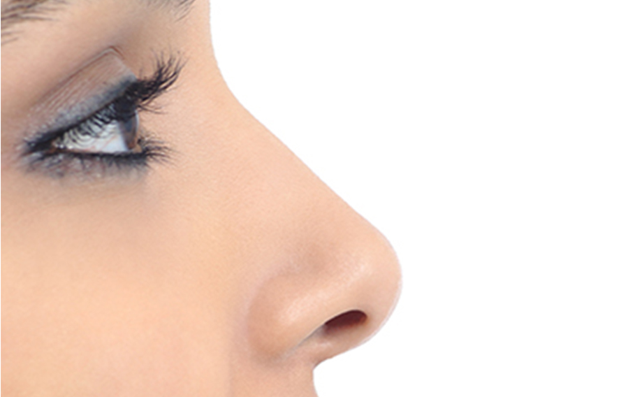 Close Up of Model's Eye and Nose Profile
